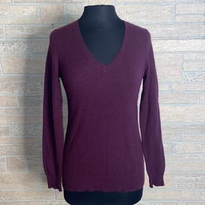 Ann Taylor Purple Sweater 100% Cashmere Size Small